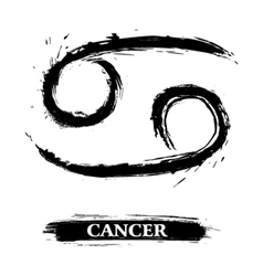 Cancer symbol vector image vector image