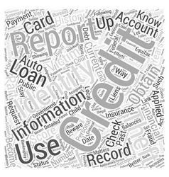 Check credit report identity theft word cloud vector