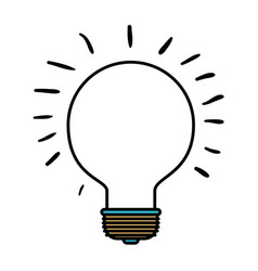 Color sections silhouette of light bulb idea icon vector