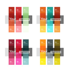 Color stripes infographics templates vector