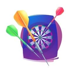 Darts icon badge logo sporting symbols vector