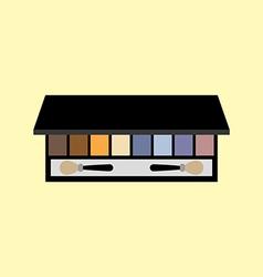 Eyeshadow palette make up vector