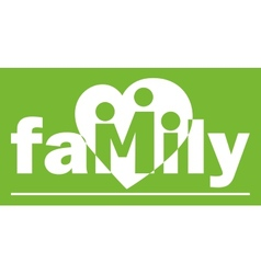 family logotype vector image