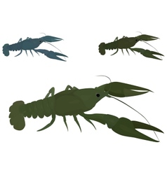 green crayfish vector image