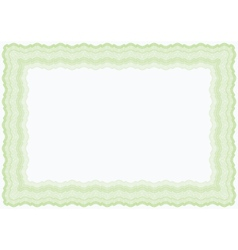 guilloche green horizontal frame vector image
