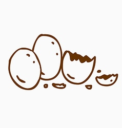 Hand Drawn Hatched Egg vector image