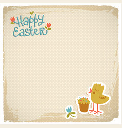 Happy easter eackground vector