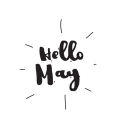 Hello may hand drawn design calligraphy vector