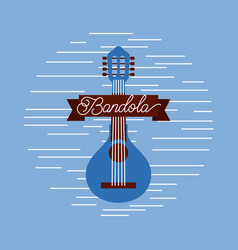 mandolin jazz instrument musical festival vector image