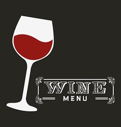 menu wine design vector image