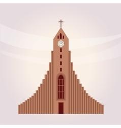 Modern protestant church building vector