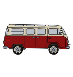 old red minibus vector image vector image