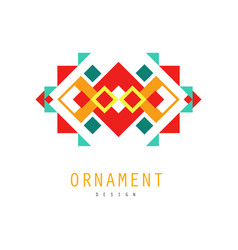 ornament logo colorful ornate pattern with vector image vector image