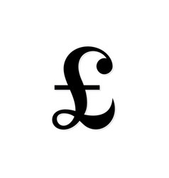 pound sterling symbol vector image