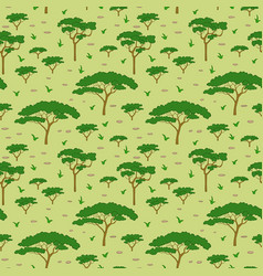 Savanna tree pattern vector