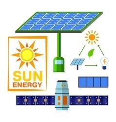 Solar energy set vector