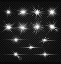 twinkle lens flares glare lighting effects vector image vector image