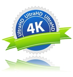 Ultrahd icon vector