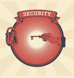 vintage of badge sticker vector image
