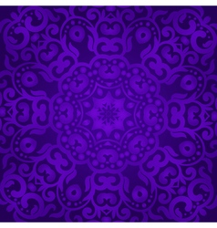Violet tracery in the indian style bohemian design vector
