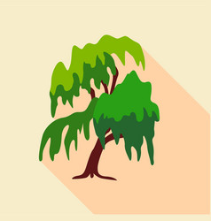 Willow tree icon flat style vector