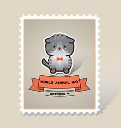 World animal day cute animal cat vector