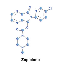 Zopiclone is a nonbenzodiazepine medication vector