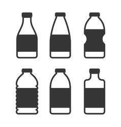 Water bottle icon set on white background vector