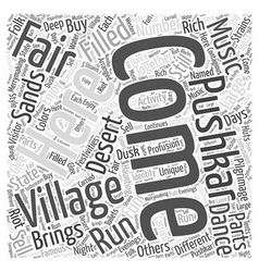 The pushkar fair word cloud concept vector