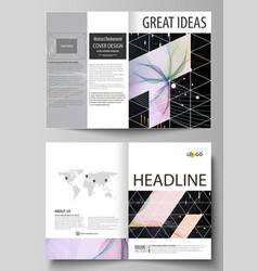 business templates for bi fold brochure flyer vector image