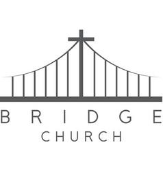Bridge church religious concept design template vector