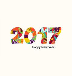 Happy new year 2017 fun color typography design vector