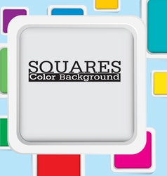 Squre color background vector