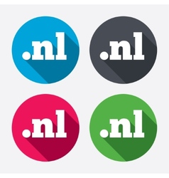 Domain nl sign icon top-level internet domain vector