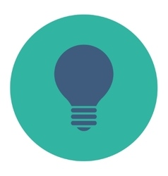 Electric bulb flat cobalt and cyan colors round vector