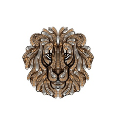 ethnic lion vector image