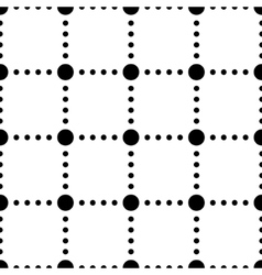 Black and white dotted squares simple seamless vector