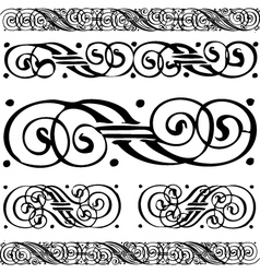 Distressed scroll borders vector