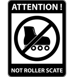 No skate rollerskate prohibited symbol vector