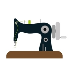 Machine tailor and sewing graphic vector