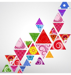 abstract ornamental triangle background vector image vector image