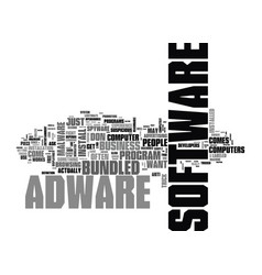 adware are your business s computers secure text vector image vector image