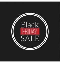 Black Friday Label vector image