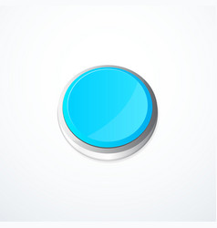 blue round button vector image vector image