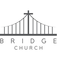 bridge church religious concept design template vector image