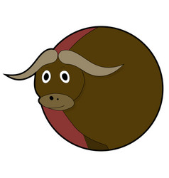 bull head sticker icons vector image