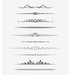 Calligraphic page dividers vector image