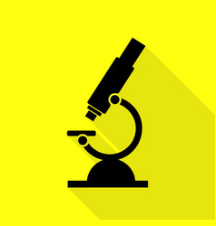Chemistry microscope sign for laboratory black vector