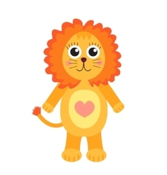 Cute cartoon character lion children s toy lion vector
