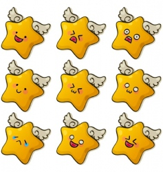 cute stars vector image vector image